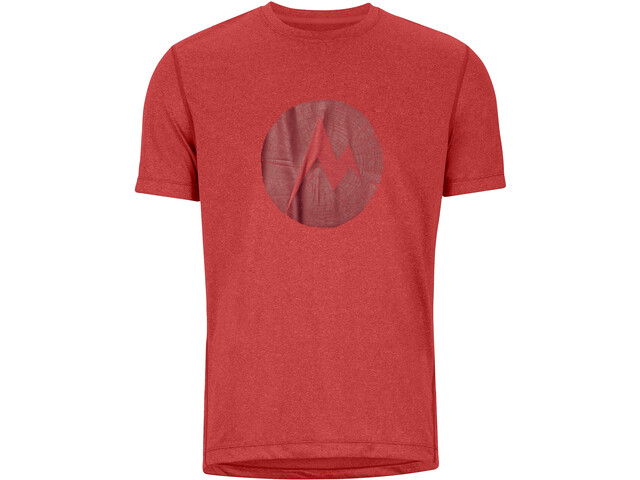 Marmot Transporter Camiseta Manga Corta Hombre, victory red heather